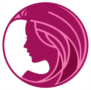 beautiful-girl-vector-logo-design-template-profile-circle-white-background-58215816